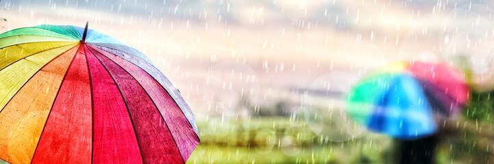 A Rainy Day in Autumn Fototapete