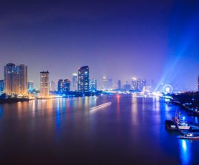 Bangkok City at night. Nightlife in the capital of Thailand