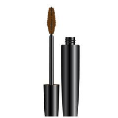 eyelashes mascara brown opened vector illustration