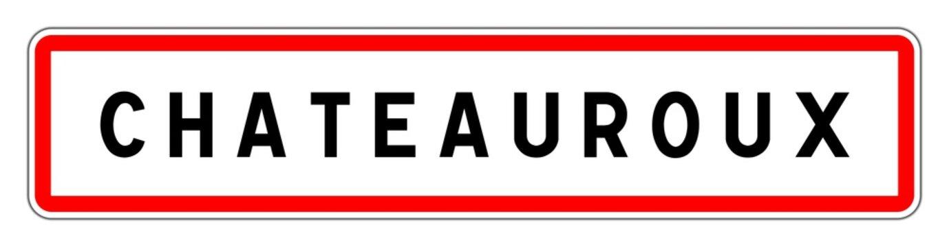 CHATEAUROUX panneau entrée agglomération