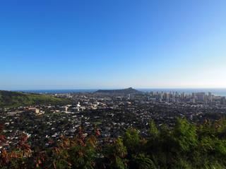 Diamondhead and the city of Honolulu, Kaimuki, Kahala, and ocean