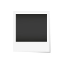 Vector ilustration photo frame. Realistic paper photograph isolated on white background with shadow
