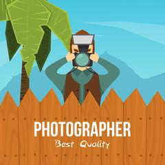 Photographer Cartoon Character Illustration