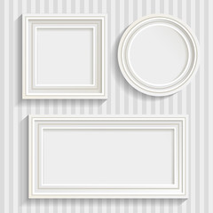 Three White Frames Set
