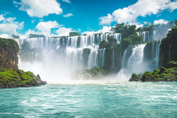 Foto op Aluminium Watervallen The amazing Iguazu waterfalls in Brazil
