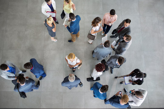 people standing and talking on business meeting.