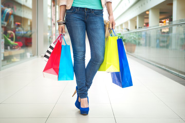 Shopping time, woman in mall
