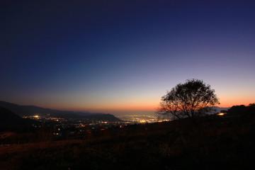 信州の夕景