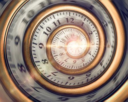 3d Zeitspirale, die Zeit läuft davon