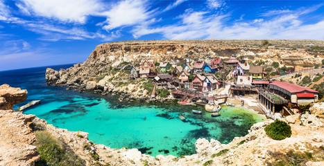famous Popeye village in Malta- popular touristic attraction