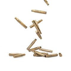Falling Bullet Shells - 3D illustration