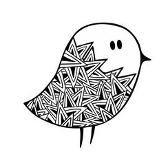 Zentangle stylized pigeon.