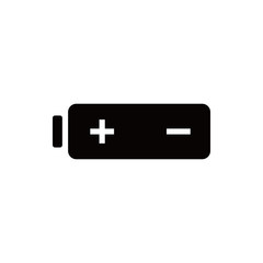 Battery web icon, battery  icon stock vector illustration flat design