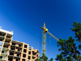 Crane, construction, new building