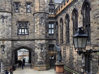 gothic stone college building, Scotland