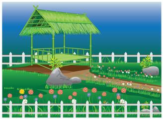 beautiful garden vector design