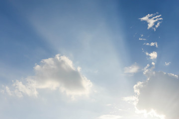 Beautify of Blue sky and cloud
