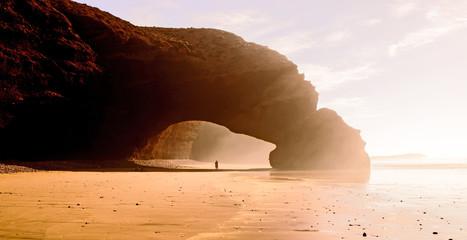 Fotobehang Marokko Legzira arch