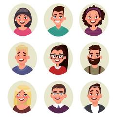 Set avatars people. Vector illustration