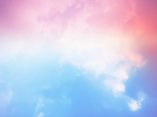 Sky and cloud pink and blue pastel tone