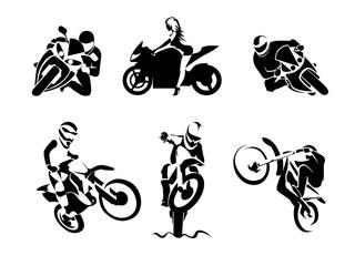 Extreme Motorbike Rider set
