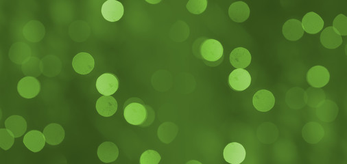 Green light  bokeh background or texture