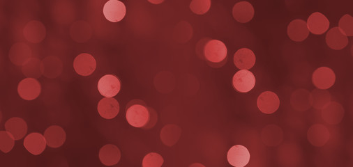 Red light  bokeh background or texture