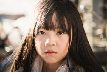 Beautiful asian girl face