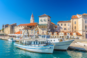 Coastal town Trogir. / View at picturesque coastal town Trogir in Croatia, Europe. Wall mural