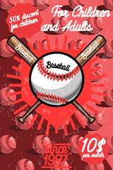 Color vintage baseball poster