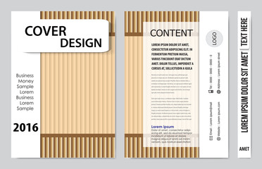 Cover book presentation design template