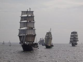 Segelschiffe auf der Jade