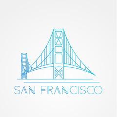 World famous Golden Gate bridge