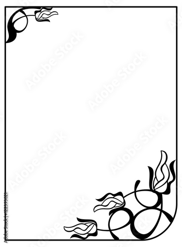 Silhouette flower frame simple black and white frame with abstract silhouette flower frame simple black and white frame with abstract flowersctor clip art mightylinksfo Choice Image