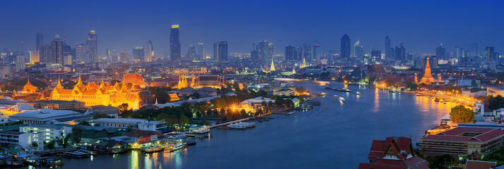 Photo sur Plexiglas Bangkok Panorama view of bangkok