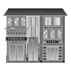 Fashion Store. Cartoon building.