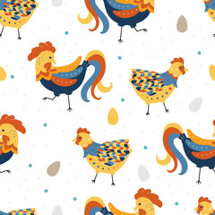 Symbol of the year 2017 on the Chinese calendar. Rooster, chicke