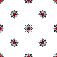Bomb flat icon pattern