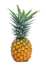 Pineapple on white background with clipping path .