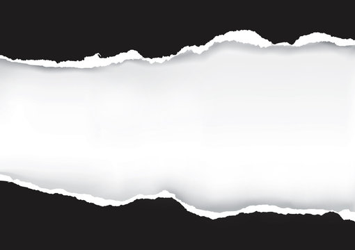 Black Ripped Paper. Illustration of black ripped paper with place for your image or text. Vector available.