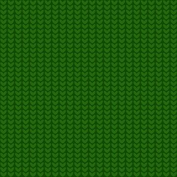 Seamless green knitting pattern.