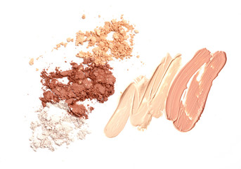 Cosmetic Liquid Foundation and dust base color foundation.