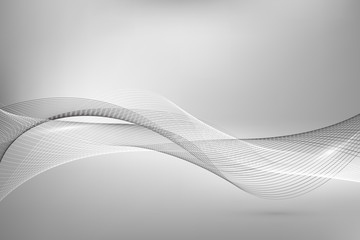 Abstract smooth lines on gray background