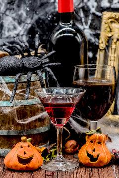Halloween wine and Halloween drink
