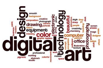 Digital art word cloud