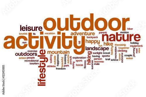 outdoor activity word cloud stockfotos und lizenzfreie bilder auf bild 122413885. Black Bedroom Furniture Sets. Home Design Ideas