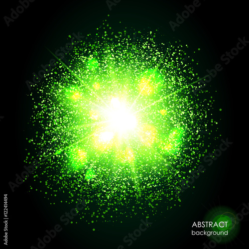 Bright green cosmic or magic background. Glowing space. Bundle of  sc 1 st  Fotolia.com & Explosion of supernova. Bright green cosmic or magic background ... azcodes.com