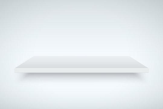 Light box with white platform. Editable Vector illustration.