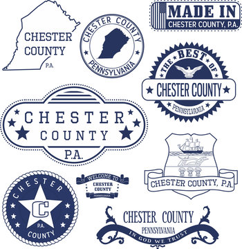 generic stamps and signs of Chester county, PA