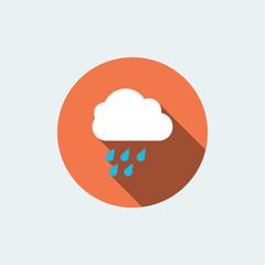 rainy icon. flat style
